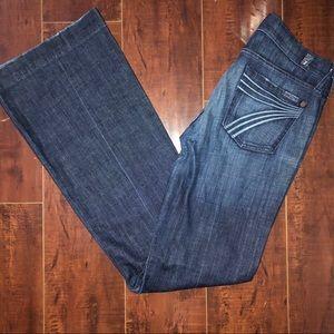 7 FOR ALL MANKIND DOJO Jeans Dark Wash 26